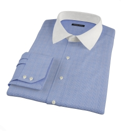 Carmine Blue Glen Plaid Custom Made Shirt