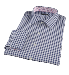 Canclini 120s Navy Gingham Custom Dress Shirt