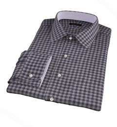 Canclini Grey Gingham Heavy Flannel Tailor Made Shirt