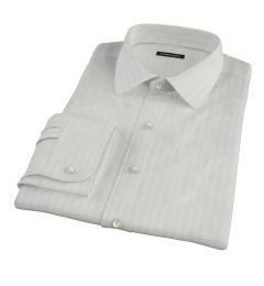 Light Blue Satin Stripe Fitted Shirt