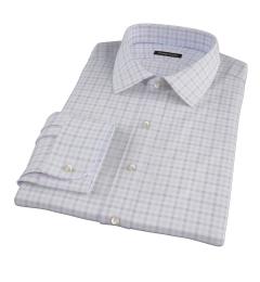 Thomas Mason Brown Multi Check Custom Dress Shirt