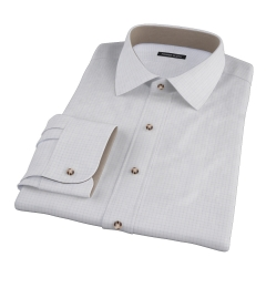 Brown Blue Morton Grid Tailor Made Shirt