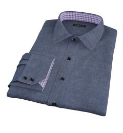 Whitney Charcoal Flannel Custom Dress Shirt