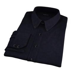 Mercer Black Broadcloth Fitted Dress Shirt