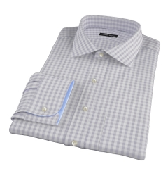 Canclini Cinder Gingham Flannel Custom Dress Shirt