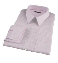 Canclini 120s Red Multi Grid Men's Dress Shirt