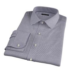 Carmine Black Horizontal Stripe Custom Dress Shirt