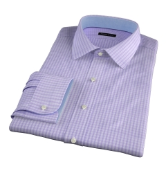 Trento 100s Lavender Check Fitted Dress Shirt