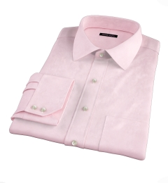 Hudson Pink Wrinkle-Resistant Twill Fitted Dress Shirt