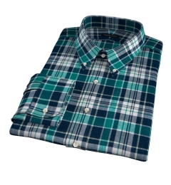 Dorado Green Plaid Custom Dress Shirt