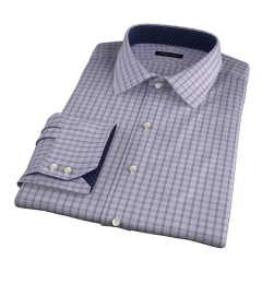 Minetta Grey Wrinkle-Resistant Multi Check Custom Made Shirt