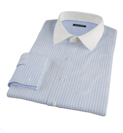 Canclini Light Blue Reverse Bengal Stripe Men's Dress Shirt