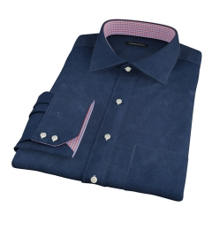 Dark Navy Heavy Oxford Fitted Dress Shirt