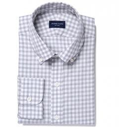 Canclini Cinder Gingham Flannel Dress Shirt