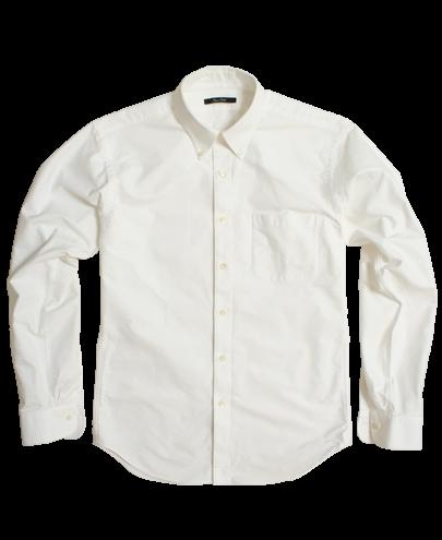 white heavy oxford cloth men 39 s dress shirt by proper cloth