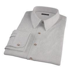 Clove Brown End-on-End Stripe Custom Dress Shirt