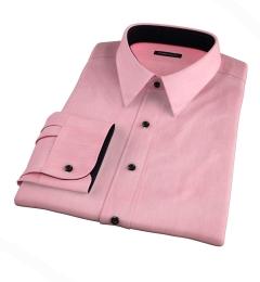 Genova 100s Coral End-on-End Custom Dress Shirt