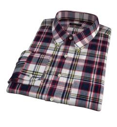 Dorado Navy Plaid Men's Dress Shirt