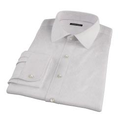 140s Lavender Wrinkle Resistant Stripe Fitted Dress Shirt