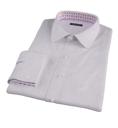 Grandi and Rubinelli 120s Red Tattersall Fitted Dress Shirt