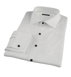 Ivory Fine Twill Tailor Made Shirt