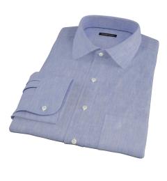 Light Blue Linen-Effect Tailor Made Shirt