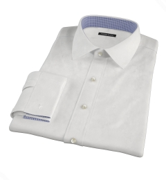 White Wrinkle Resistant 100s Broadcloth Custom Dress Shirt