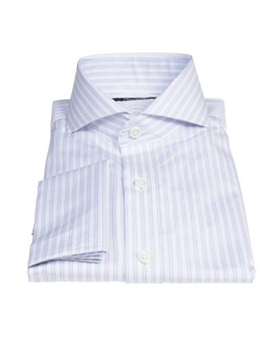 Blue and Lavender Stripe Dress Shirt