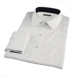 Canclini White Broadcloth Custom Made Shirt