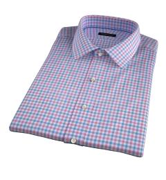 Thomas Mason Hibiscus Multi Check Short Sleeve Shirt