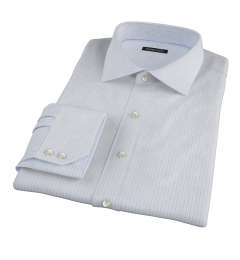 Canclini Blue Multi Stripe Dress Shirt
