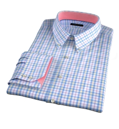 Siena Blue Yellow and Red Multi Check Tailor Made Shirt
