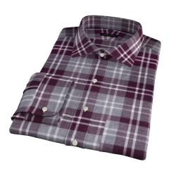 Scarlet and Cinder Large Plaid Flannel Fitted Shirt