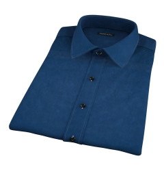 Thomas Mason Navy Luxury Broadcloth Short Sleeve Shirt