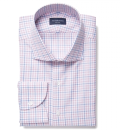 Mouline Pink Multi Check Fitted Shirt