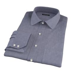 Navy Chambray Men's Dress Shirt