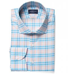Thomas Mason Blue Spring Plaid Men's Dress Shirt