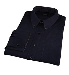 Mercer Black Broadcloth Fitted Shirt