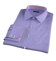Charles Violet Small Check Custom Dress Shirt