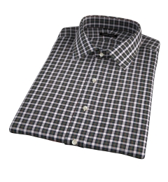 Lorimer Green and Orange Plaid Short Sleeve Shirt