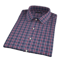 Sullivan Red and Grey Melange Check Short Sleeve Shirt