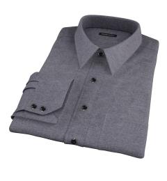 Canclini Charcoal Herringbone Flannel Custom Made Shirt