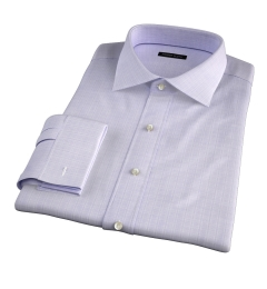 Lazio 120s Lavender Multi Grid Fitted Dress Shirt