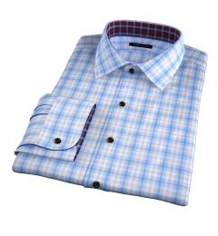 Siena Blue and Yellow Multi Check Men's Dress Shirt