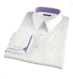 Crosby White Wrinkle-Resistant Twill Custom Made Shirt