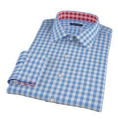 Light Blue Large Gingham Tailor Made Shirt