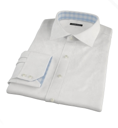 White Extra Wrinkle Resistant Pinpoint Fitted Shirt