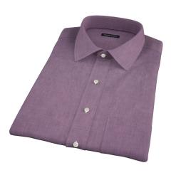 Eggplant End on End Short Sleeve Shirt