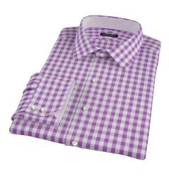 Lavender Large Gingham Tailor Made Shirt