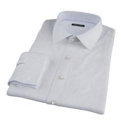 Albini Blue Mini Tattersall Dress Shirt
